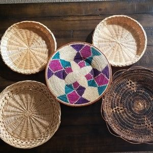 5 Vintage Baskets for Basket Wall Decor